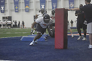 Defensive end Wayne Dorsey during Ole Miss' spring practice at the IPF in Oxford, Miss. on Monday, March 28, 2011.
