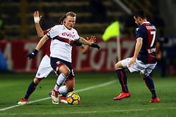"""Foto Filippo Rubin<br /> 24/02/2018 Bologna (Italia)<br /> Sport Calcio<br /> Bologna - Genoa - Campionato di calcio Serie A 2017/2018 - Stadio """"Renato Dall'Ara""""<br /> Nella foto: AOSCAR HILJEMARK (GENOA)<br /> <br /> Photo by Filippo Rubin<br /> February 24, 2018 Bologna (Italy)<br /> Sport Soccer<br /> Bologna vs Genoa - Italian Football Championship League A 2017/2018 - """"Renato Dall'Ara"""" Stadium <br /> In the pic: OSCAR HILJEMARK (GENOA)"""