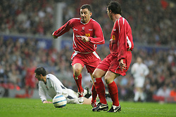 LIVERPOOL, ENGLAND - SUNDAY MARCH 27th 2005: Liverpool Legends' John Aldridge and Robbie Fowler during the Tsunami Soccer Aid match at Anfield. (Pic by David Rawcliffe/Propaganda)