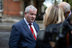 © Licensed to London News Pictures. 24/09/2019. London, UK. Leader of the Scottish National Party (SNP) Ian Blackford leaves media studios in Westminster, following a historic ruling by the Supreme Court this morning that Boris Johnson's decision to suspend Parliament for five weeks was unlawful. Photo credit : Tom Nicholson/LNP