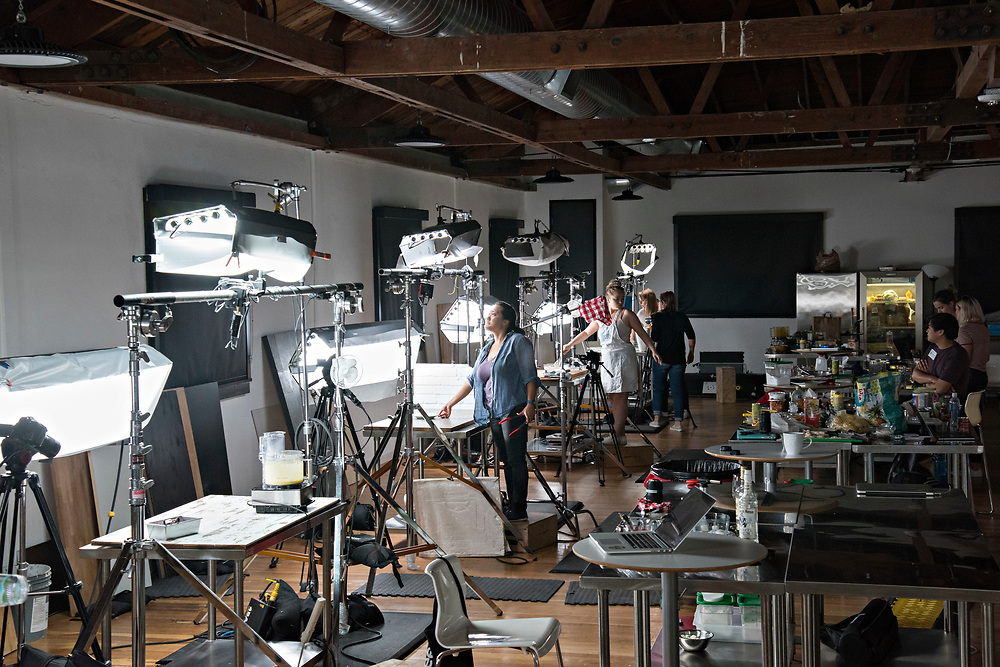 HOLLYWOOD, CA | July 24, 2017<br /> BuzzFeed's Tasty video studio is buzzing with activity, as recipes are tested, made, and shot by a team of producers in a huge workspace. (Melissa Lyttle for The New York Times)