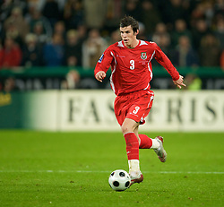 MONCHENGLADBACH, GERMANY - Wednesday, October 15, 2008: Wales' Gareth Bale in action against Germany during the 2010 FIFA World Cup South Africa Qualifying Group 4 match at the Borussia-Park Stadium. (Photo by David Rawcliffe/Propaganda)