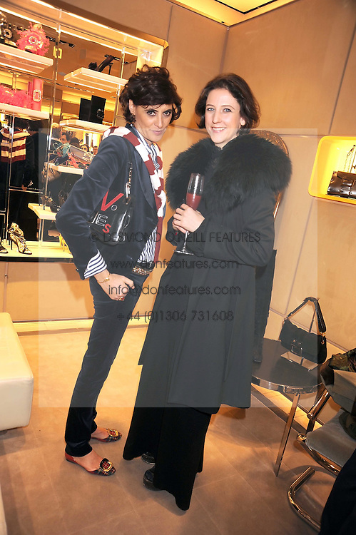 Left to right, INES DE LA FRESSANGE and MARIA GRACHVOGEL at a party at Roger Vivier, Sloane Street, London on 2nd December 2008.