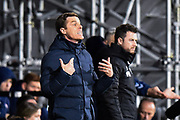 Fulham manager Scott Parker during the EFL Sky Bet Championship match between Fulham and Middlesbrough at Craven Cottage, London, England on 17 January 2020.