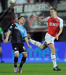 03-04-2010 VOETBAL: AZ - FC UTRECHT: ALKMAAR<br /> FC Utrecht verliest met 2-0 van AZ / Dries Mertens en Niklas Moisander<br /> ©2010-WWW.FOTOHOOGENDOORN.NL