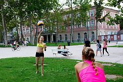 Gabriela Kotvova and Tereza Jarosova of Czech Republic at Beach Volleyball Challenge Ljubljana 2014, on August 2, 2014 in Kongresni trg, Ljubljana, Slovenia. Photo by Matic Klansek Velej / Sportida.com