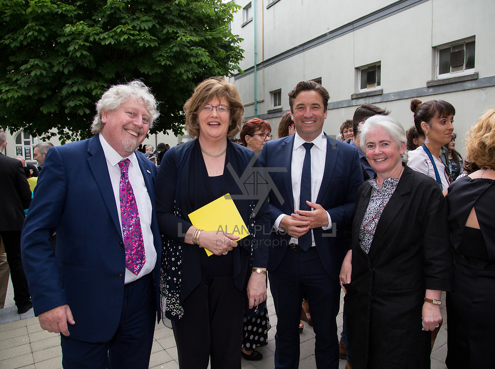 11.06.2017         <br /> International award winning artists are among the almost 200 graduates of Limerick School of Art and Design who's work went on exhibition at the LSAD Graduate Show 2017.<br /> <br /> Pictured at the awards ceremony were, Mike Fitzpatrick, Head LSAD, Senator Maria Byrne, John Concannon, Director Creative Ireland and Sheila Deegan, Arts and Culture Officer Limerick City and County Council.<br /> <br />  <br /> Students from the college took control of the over-riding message of this historical show as they conceptualised, designed and delivered on the theme - be.cause.<br />  <br /> The hypothesis conceived by Graphic Design graduates Cassandra Walsh and David Reilly, is derived from the fact the graduates have now reached a stage where they are confident with their work, their interpretations and creative solutions. As creative minds they have an innate need to &ldquo;do&rdquo; something. There is just this need to create, be.cause.<br /> . Picture: Alan Place.