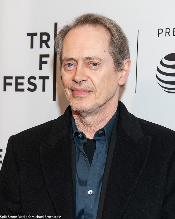 Steve Buscemi at the Tribeca Film Festival red carpet arrivals in New York City on April 24, 2018