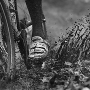 NEW HAVEN, CONNECTICUT- DECEMBER 18:  A competitor rides through mud and water during the Elm City CX, CT Series Cyclocross Competition on December 18th, 2016 at the Edgewood Park, New Haven, Connecticut (Photo by Tim Clayton/Corbis via Getty Images)