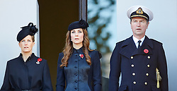 The Countess of Wessex, The Duchess of Cambridge and Vice Admiral Sir Timothy Laurence during the annual Remembrance Sunday Service at the Cenotaph, Whitehall, London, United Kingdom. Sunday, 10th November 2013. Picture by i-Images