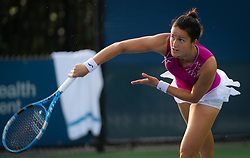 August 11, 2018 - Lara Arrubarrena of Spain in action during qualifications at the 2018 Western & Southern Open WTA Premier 5 tennis tournament. Cincinnati, USA, August 11, 2018 (Credit Image: © AFP7 via ZUMA Wire)