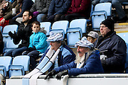 Coventry City fans during the Sky Bet League 1 match between Coventry City and Bury at the Ricoh Arena, Coventry, England on 13 February 2016. Photo by Chris Wynne.