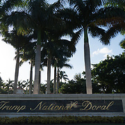 DORAL, FLORIDA, JUNE 24, 2017<br /> Main entrance to the Trump National Doral Miami Golf Reseort. <br /> (Photo by Angel Valentin/Freelance)