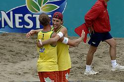 24-08-2006: VOLLEYBAL: NESTEA EUROPEAN CHAMPIONSHIP BEACHVOLLEYBALL: SCHEVENINGEN<br /> Emiel Boersma en Mathijs Mast winnen ook de 2de ronde<br /> ©2006-WWW.FOTOHOOGENDOORN.NL
