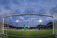 ZWOLLE, PEC Zwolle - Roda JC, voetbal, Eredivisie seizoen 2015-2016, 08-04-2016, IJsseldelta Stadion, mooie redding van PEC Zwolle keeper Mickey van der Hart (2L).