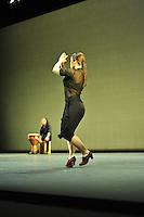 Rocio Molina rehearses for photographers at Sadler's Wells Flamenco Festival