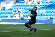 Leeds United goalkeeper Robert Green warms up before the EFL Sky Bet Championship match between Cardiff City and Leeds United at the Cardiff City Stadium, Cardiff, Wales on 17 September 2016. Photo by Andrew Lewis.