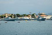 Navy ships at the Messina port, sicily, Italy, July 2006.