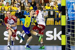 Lucijan Fizuleto #26 of RK Celje Pivovarna Lasko during handball match between RK Celje Pivovarna Lasko (SLO) and SG Flensburg Handewitt (GER) in 12th Round of EHF Men's Champions League 2015/16, on February 20, 2016 in Arena Zlatorog, Celje, Slovenia. Photo by Urban Urbanc / Sportida