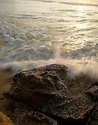 Surf breaking on Rocks, Redhead Beach, NSW,Australia