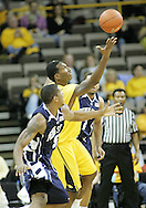 24 JANUARY 2007: Iowa forward Cyrus Tate (44) tries to grab a rebound in Iowa's 79-63 win over Penn State at Carver-Hawkeye Arena in Iowa City, Iowa on January 24, 2007.