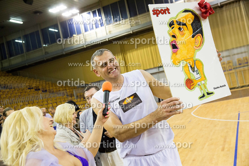 Slavko Kotnik during football and basketball charity event All Legends by Olimpiki, on June 9, 2015 in Hala Tivoli, Ljubljana, Slovenia. Photo by Vid Ponikvar / Sportida