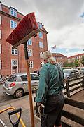 AAB afdeling Østerbro,vicevært, ejendomfunktioner, drift af ejendom, varmeanlæg, gårdmilijø, alment boligbyggeri, Jesper Høgshøj Poulsen, renovation, Landsbyggefonden