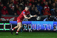 Scarlets' Steff Evans in action during todays match - Mandatory by-line: Craig Thomas/Replay images - 26/12/2017 - RUGBY - Parc y Scarlets - Llanelli, Wales - Scarlets v Ospreys - Guinness Pro 14