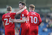 GOAL Ian Henderson celebrates his 100th career goal 0-1  during the EFL Sky Bet League 1 match between Chesterfield and Rochdale at the b2net stadium, Chesterfield, England on 25 March 2017. Photo by Daniel Youngs.