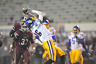 Oxford High's Zach Cousar (16) makes a catch against Picayune in the MHSAA Class 5A championship game at Mississippi Veterans Memorial Stadium in Jackson, Miss. on Saturday, December 7, 2013. Picayune rallied to win 42-35.