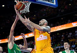 Pero Antic of Macedonia during basketball game between National basketball teams of F.Y.R. of Macedonia and Lithuania at Quarterfinals of FIBA Europe Eurobasket Lithuania 2011, on September 14, 2011, in Arena Zalgirio, Kaunas, Lithuania. Macedonia defeated Lithuania 67-65. (Photo by Vid Ponikvar / Sportida)