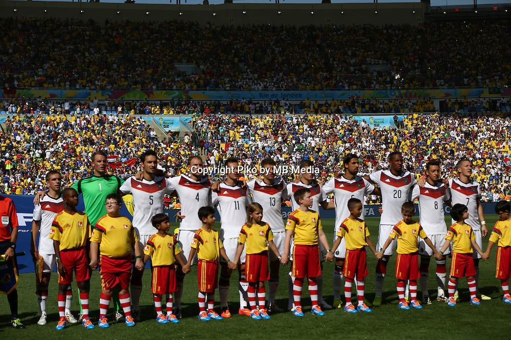 Fifa Soccer World Cup - Brazil 2014 - <br /> FRANCE (FRA) Vs. GERMANY (GER) - Quarter-finals - Estadio do Maracana Rio De Janeiro -- Brazil (BRA) - 04 July 2014 <br /> Here German team.<br /> &copy; PikoPress