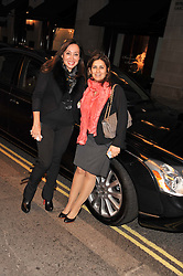 Left to right, jUDI PIGGOTT and MONA KHASHOGGI at a party to celebrate the opening of luxury jewellers Nourbel & Le Cavelier first boutique in London in Burlington Arcade, London on 14th June 2012.