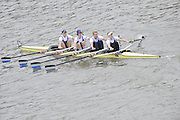 London, Great Britain,   Start No 104 IMPERIAL COLL VIII.  Women's Elite 4x-. approach the start at Mortlake, Photo from Chiswick Bridge.  Fullers,  Fours Head of the River Race, Championship Course, Mortlake to Putney, River Thames. Saturday   05/11/2011   [Mandatory Credit. Peter Spurrier/Intersport Images]