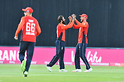 Wicket - Moeen Ali of England celebrates taking the wicket of Travis Head of Australia who was caught by Alex Hales of England during the International T20 match between England and Australia at Edgbaston, Birmingham, United Kingdom on 27 June 2018. Picture by Graham Hunt.