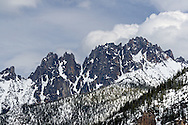 Vasiliki Ridge in the North Cascades of Washington State, USA.  Photographed from Washingon Pass along Highway 20.