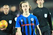 Rochdale youngest player in history Luke Matheson - League Debut  during the EFL Sky Bet League 1 match between Rochdale and Fleetwood Town at Spotland, Rochdale, England on 19 January 2019.