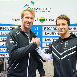 20151029: SLO, Tennis - Draw of Davis Cup Slovenia vs Lithuania