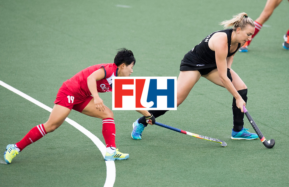 AUCKLAND - Sentinel Hockey World League final women<br /> Match id 10295<br /> 05 New Zealand  v Korea<br /> Foto: Hyejin Cho and Liz Thompson <br /> WORLDSPORTPICS COPYRIGHT FRANK UIJLENBROEK
