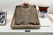 Tokyo, April 10 2014 - A military uniform on display inside the Yushukan, Yasukuni Shrine's war museum.
