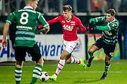 ALKMAAR - 21-01-2017, AZ - Sparta, AFAS Stadion, 1-1, AZ speler Mats Seuntjens, Sparta speler Stijn Spierings