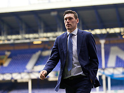 LIVERPOOL, ENGLAND - Saturday, March 12, 2016: Everton's Gareth Barry arrives at Goodison Park before the FA Cup Quarter-Final match against Chelsea. (Pic by David Rawcliffe/Propaganda)