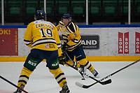 2019-08-14 | Nyköping, Sweden: Södertälje SK (9) Sebastian Bengtsson during the game between Nyköping SK and Södertälje SK at Nyköping Arena ( Photo by: Simon Holmgren | Swe Press Photo )<br /> <br /> Keywords: Nyköping Arena, Nyköping, Ice hockey, Preseason game, Nyköping SK, Södertälje SK