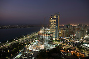 ABU DHABI- Central city  and  Central  Mosque once the  largest in Abu Dhabi