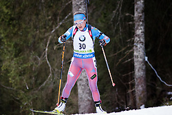 Ekaterina Yurlova (RUS) competes during Women 10 km Pursuit at day 3 of IBU Biathlon World Cup 2015/16 Pokljuka, on December 19, 2015 in Rudno polje, Pokljuka, Slovenia. Photo by Ziga Zupan / Sportida