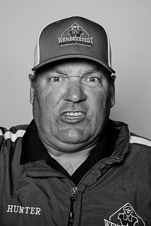 DAYTONA BEACH, FL - FEBRUARY 2, 2016:  Portraits of umpires calling a strike at the Harry Wendelstedt Umpire School in Daytona Beach, Fla.: Hunter Wendelstedt, 45, of Madisonville, Louisiana is an MLB Umpire and the owner of the Wendelstedt Umpire School.  (Photo by Melissa Lyttle)