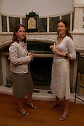 Rebecca Blinston-Jones and Annette Murphy. No Campaign's Summer Party. A celebration of the 'Non' and 'Nee' votes in the European referendum in France and The Netherlands held at The Peacock House, 8 Addison Road, London. 5 July 2005. ONE TIME USE ONLY - DO NOT ARCHIVE  © Copyright Photograph by Dafydd Jones 66 Stockwell Park Rd. London SW9 0DA Tel 020 7733 0108 www.dafjones.com