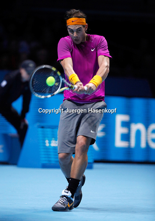 ATP World Tour Finals  2010 in der O2 Arena in London, HerrenTennis Turnier, WM, Weltmeisterschaft, Rafael Nadal (ESP),action