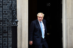 © Licensed to London News Pictures. 15/10/2019. LONDON, UK.  Boris Johnson, Prime Minister, prepares to meet Jens Stoltenberg, NATO Secretary General, for talks at Number 10 Downing Street.  Photo credit: Stephen Chung/LNP