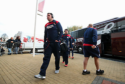 James Phillips of Bristol Rugby arrives at the ground - Rogan Thomson/JMP - 03/12/2016 - RUGBY UNION - Kingsholm Stadium - Gloucester, England - Gloucester Rugby v Bristol Rugby - Aviva Premiership.